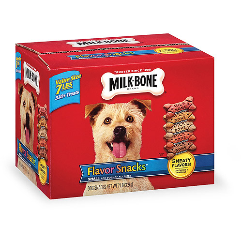 Milk-Bone Flavor Snacks Biscuit Dog Treats for Small & Medium Dogs, 7LB