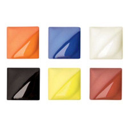 AMACO Velvet Underglazes, 1 Pint, Assorted Colors, Set of 6 (Red Velvet Underglaze)