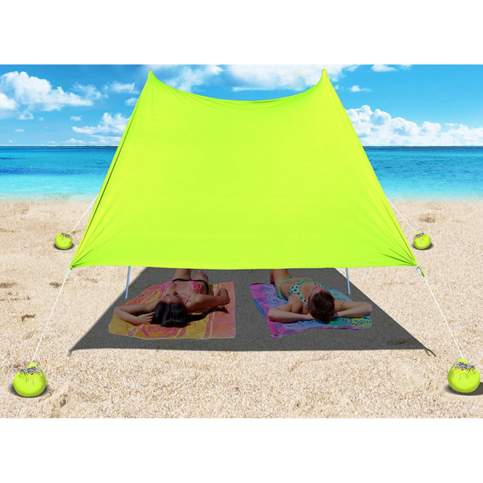 Sunrise Portable Canopy Tent Sun Shelter with Sand Anchor