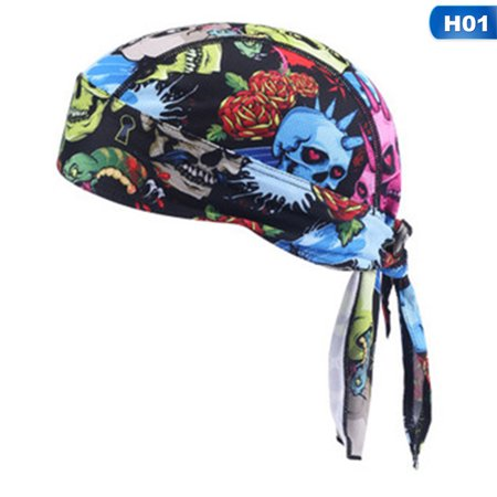 KABOER Men Do Durag Bandana Scarf Head Tie Down Band Cycling Biker Cap Hat Vogue Hot