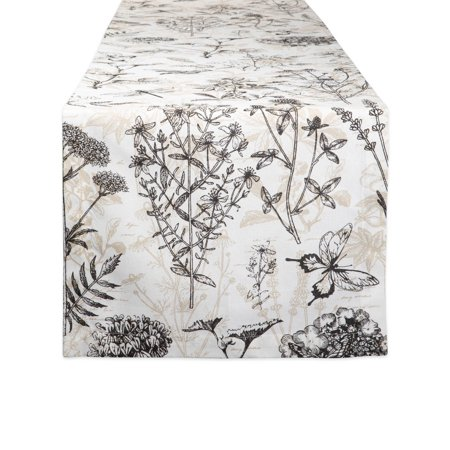 DII Botanical Print Table Runner, 72 x 14