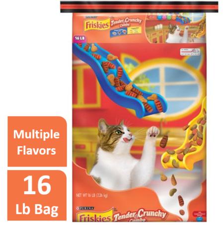 Friskies Tender & Crunchy Combo Adult Dry Cat Food, 16 lb