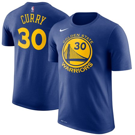 release date 1669d 7d6b3 Stephen Curry Golden State Warriors Nike Name & Number Performance T-Shirt  - Royal