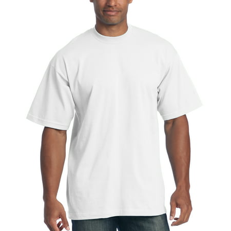 f8475396 Pro Club - Pro Club Men's 6.5 oz Heavyweight Cotton Short Sleeve T-Shirt,  White, Large - Walmart.com