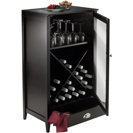 Winsome Wood Bordeaux 24-Bottle Modular Wine Cabinet, Espresso (Bordeaux Veneer Finish)