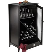 Winsome Wood Bordeaux 24-Bottle Modular Wine Cabinet, Espresso Finish