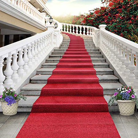 GreenDecor Polyster 5x7ft Wedding Red Carpet Stairs Stage Photography Studio Backdrop Background](Red Carpet Backgrounds)
