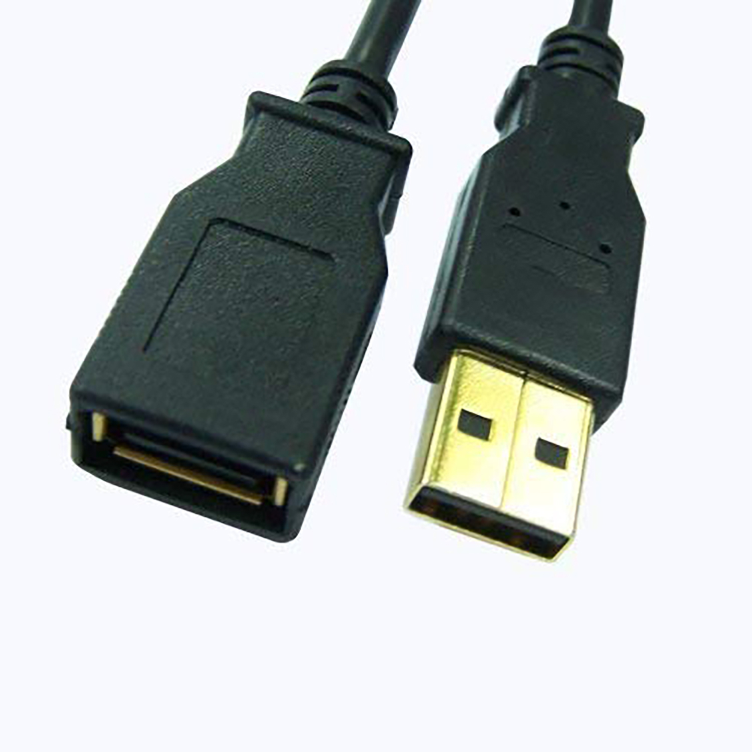 USB 2.0 A//A Extension Cable 24k Gold-plated 10ft Black