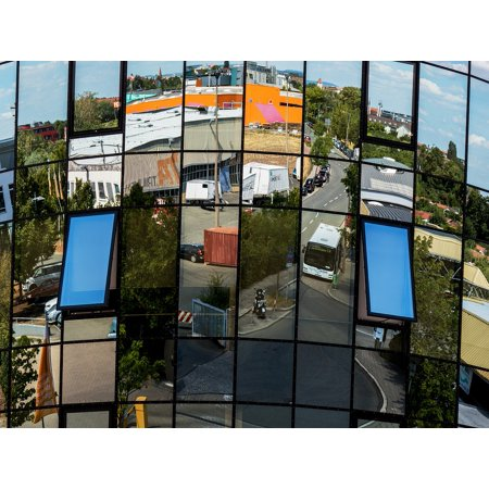 Framed Art for Your Wall Architecture Building Glass Facade Mirror Facade 10x13 Frame ()
