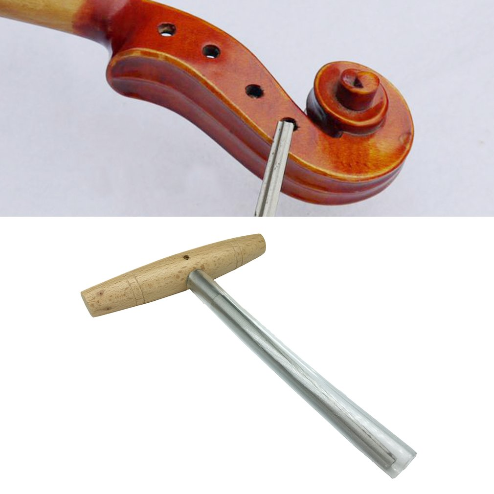 Compact Size Stainless Steel Wood Handle Violin Peg Hole Reamer Practical 1:30 Taper... by