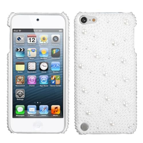 Insten White Pearl Diamante Back (with Package) Case For iPod Touch 6 6th 5 5th Gen