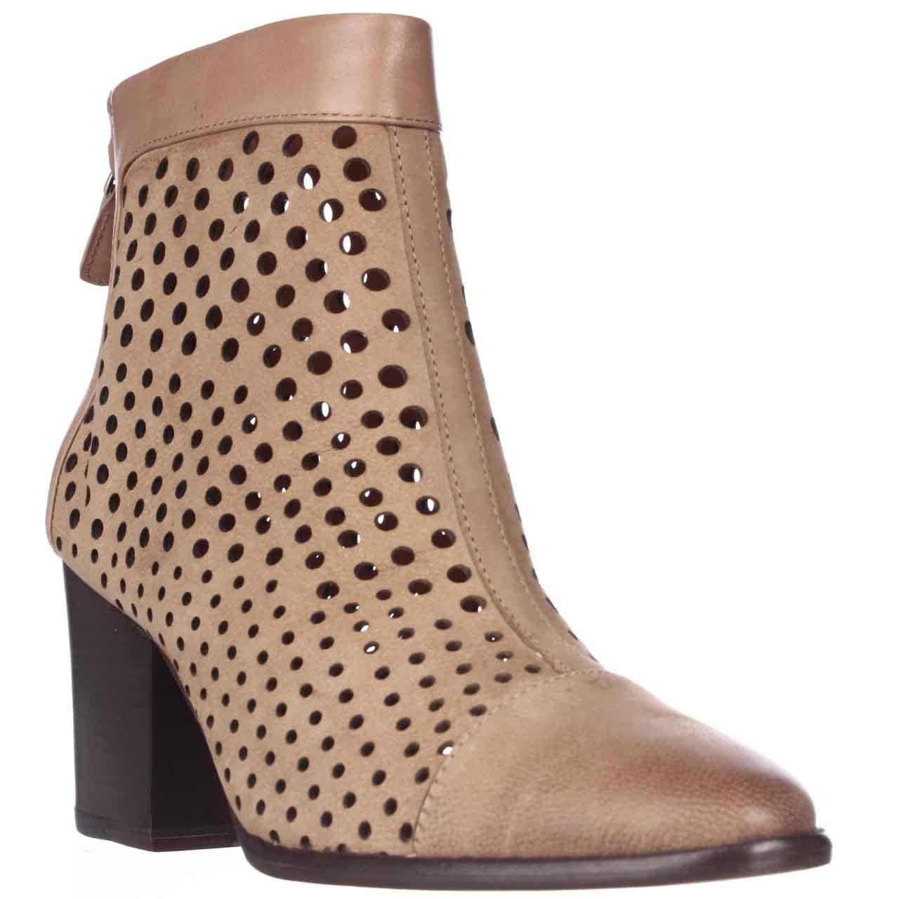 Womens Rebecca Minkoff Bedford Perforated Ankle Boots - Tan