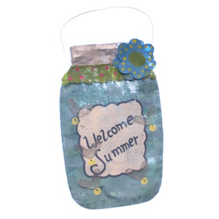 Peri Woltjer LIT MASON JAR DOOR HANGER Metal Indoor Outdoor Screening 2020150857 (Peri Woltjer Halloween)