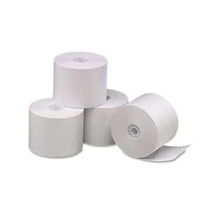 "PM Company Single Ply Thermal Cash Register|POS Rolls, 2 1|4"" x 165 ft., White, 6