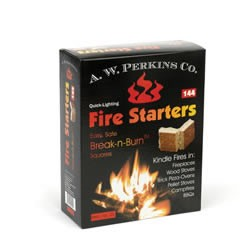 Aw Perkins Fire Starters 144 Squares Per Box by
