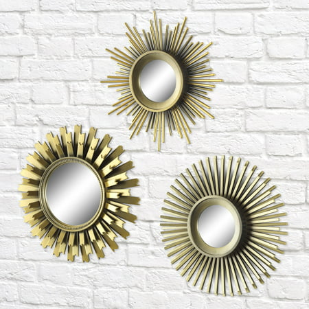 Better Homes And Gardens 3 Piece Round Sunburst Mirror Set