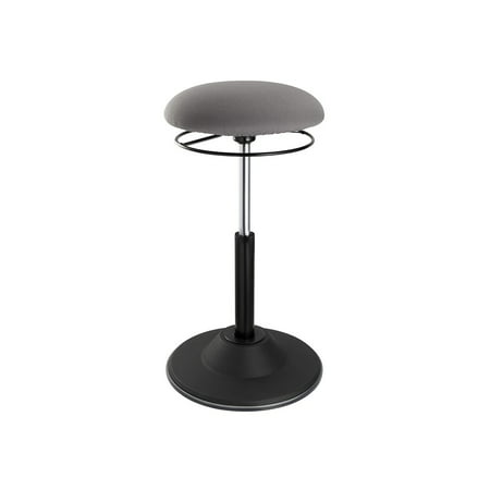 Monoprice Sit-Stand Dynamic Stool - Gray/Black With Round Seat, Air Lift Height-Adjustable - Workstream - Collection Lift