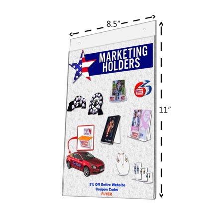 Walmart 6 Pack Wall Mount Sign Holder 8 12 X 11 85w X 11h