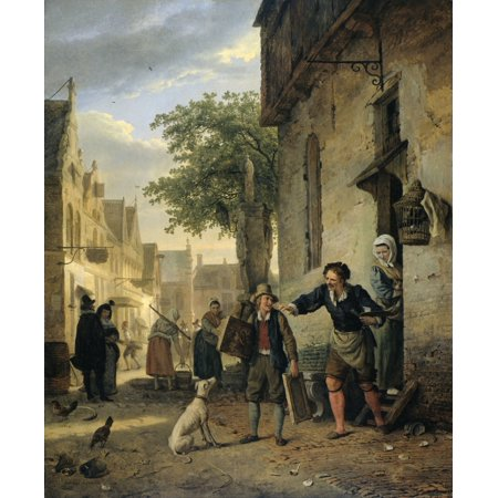 Jan Steen Sends His Son To The Streets To Exchange Paintings For Beer And Wine Poster Print