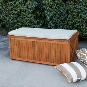 Keter Borneo Plastic Deck Storage Container Box Outdoor Patio Garden Furniture 110 Gal Brown