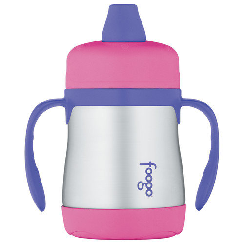 Thermos Foogo Phases 7 oz Leak Proof Sippy Cup with Handle in Pink
