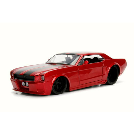 1965 Ford Mustang GT, Red w/ Stripes - Jada 99976DP1 - 1/24 Scale Diecast Model Toy Car (Brand New but NO BOX)