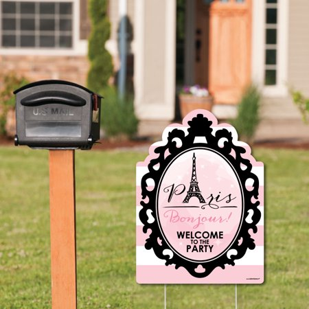 Paris, Ooh La La - Party Decorations - Paris Themed Birthday Party or Baby Shower Welcome Yard Sign - Party Decorations Paris