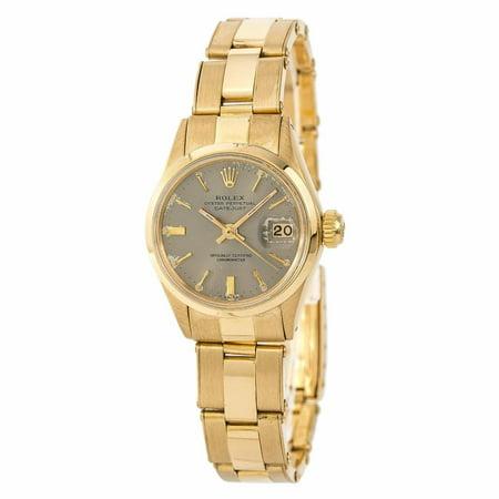 Rolex Date 6516 Gold Women Watch (Certified Authentic & Warranty)
