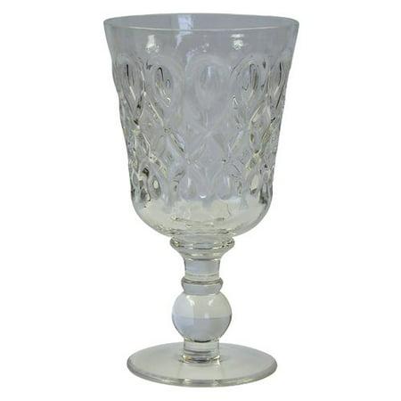 R Squared Teardrop Pressed Glass Goblet (Set of 8)