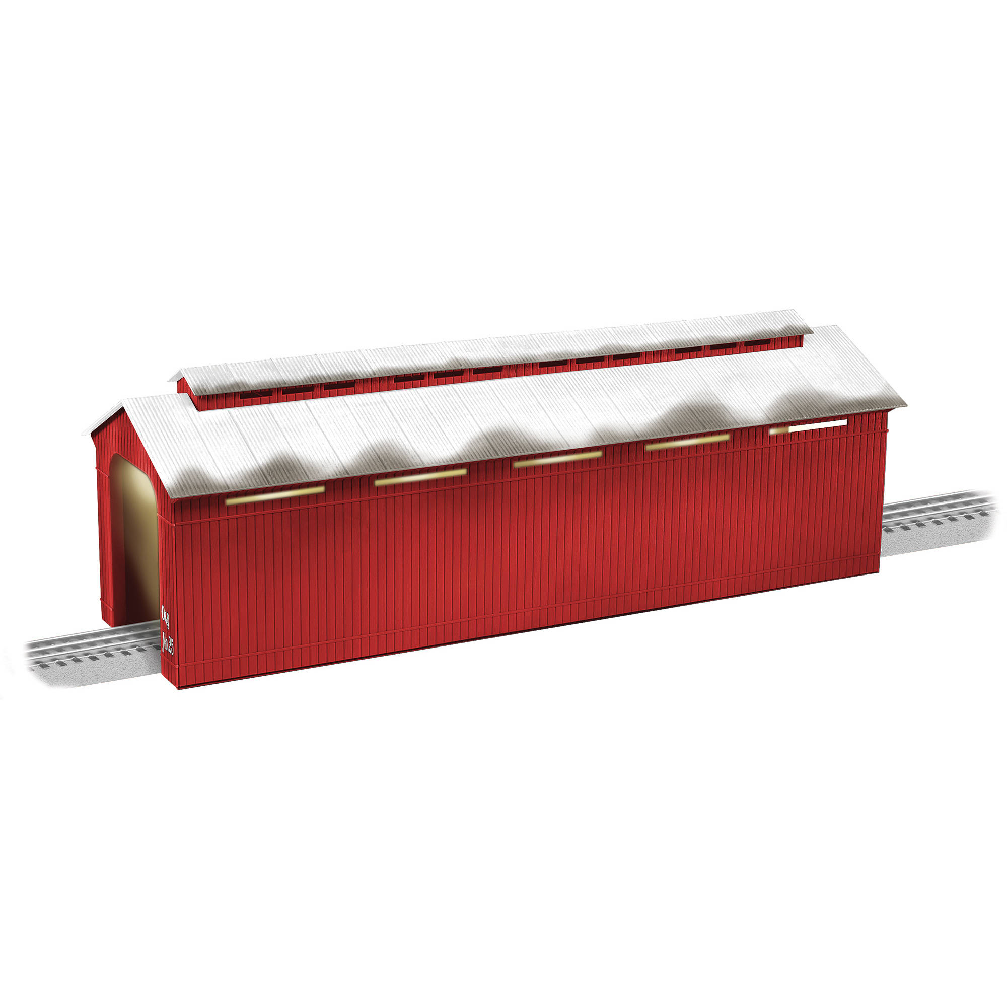 Lionel Trains Christmas Red Lighted Covered Bridge by Lionel, LLC