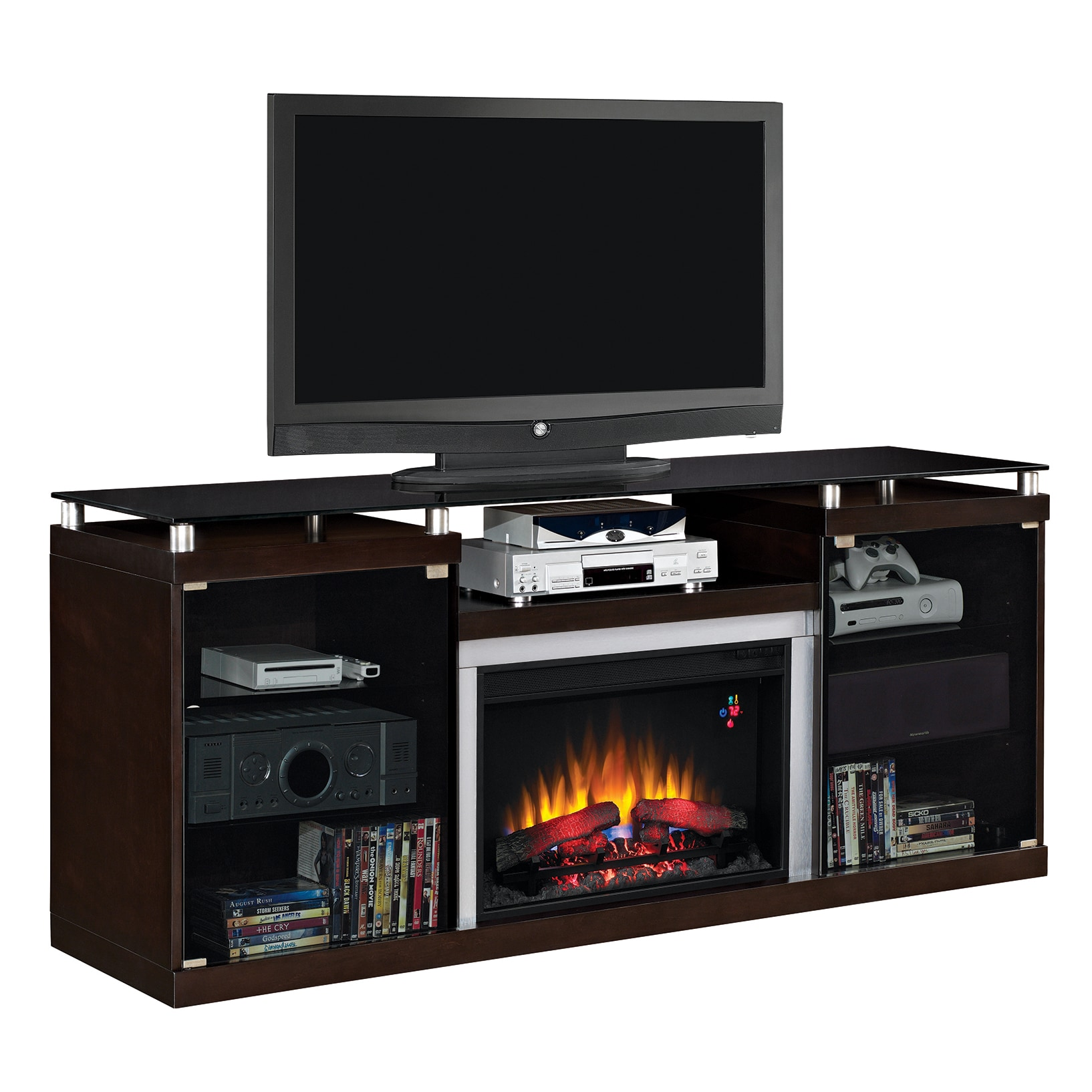 Twin Star Int Albright Tv Stand With 26 Inch Electric Fireplace