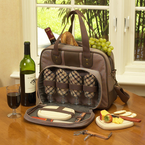 Picnic At Ascot Wine and Cheese Cooler For Four
