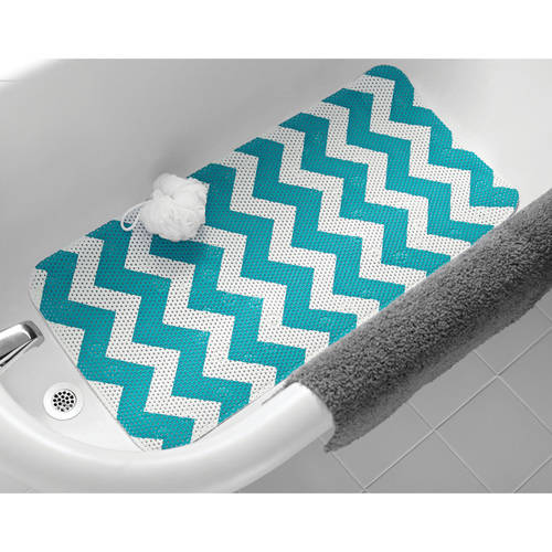 Mainstays Chevron Pattern 17 In. x 36 In. Cushioned Tub Mat, Assorted Colors