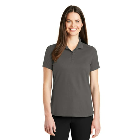 Port Authority LK164 Ladies SuperPro Knit Polo, Sterling Grey, XXL