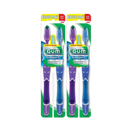 Gum Technique Plus Soft Toothbrush, Twin Pack - 1 Ea, 3 Pack
