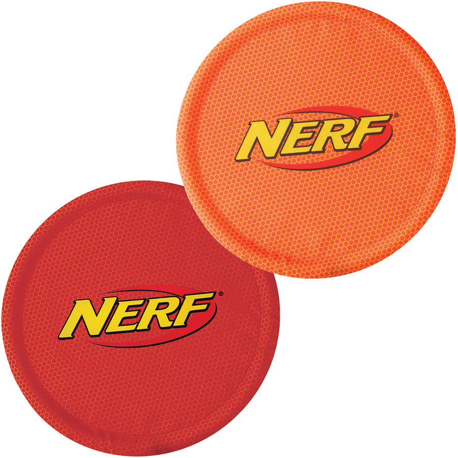 "Nerf Nylon Flyer, 10"", 2pk, Red and Orange"