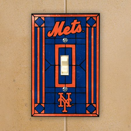 Art Glass Switch Cover (New York Mets Art Glass Switch Plate Cover - No)