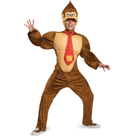 Super Mario Brothers Adult Donkey Kong Costume](Big Brother Baby Brother Halloween Costumes)