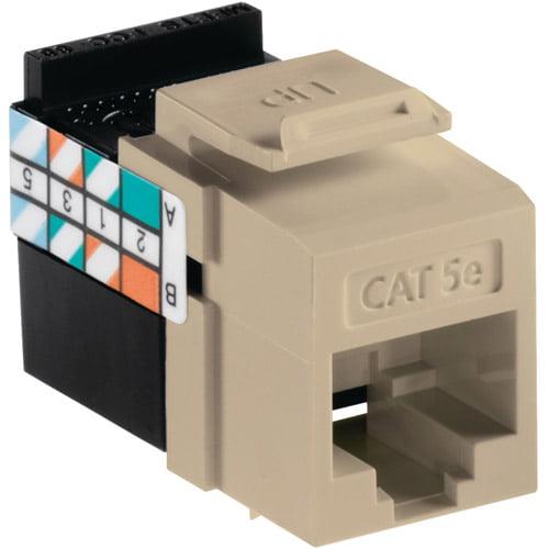 Leviton 5G108-RI5 Quickport CAT-5E Jack, Ivory