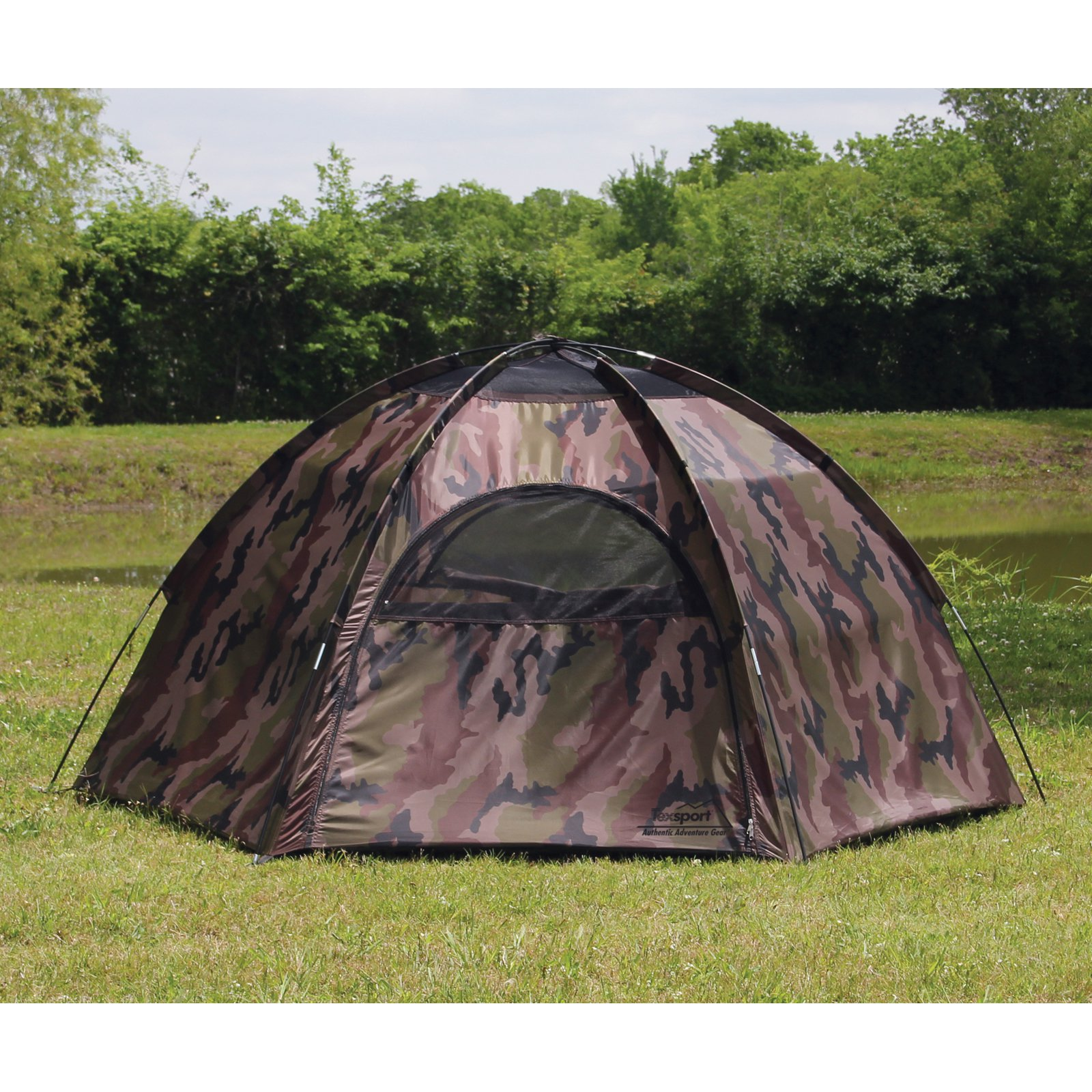Texsport Hide-A-Way Camouflage Hexagon Dome Tent