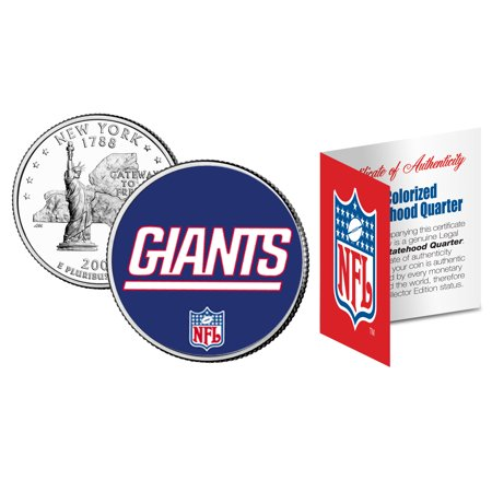 Giants Coin (NEW YORK GIANTS NFL New York U.S. Statehood Quarter U.S. Coin )