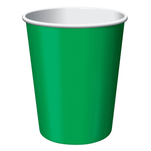 Creative Converting 563261 9 Oz Emerald Green Hot Cold Cups 8 Count