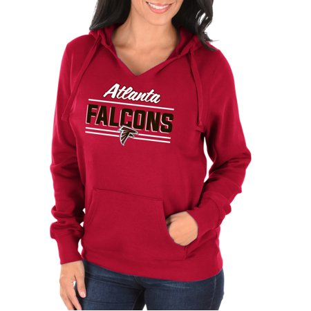 sports shoes 573ad ebd48 NFL Atlanta Falcons Shape it Up Women's Split Neck Hoodie