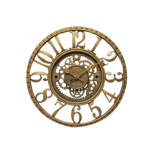 Infinity Instruments-Gear Dial 15.5 Inch Wall Clock