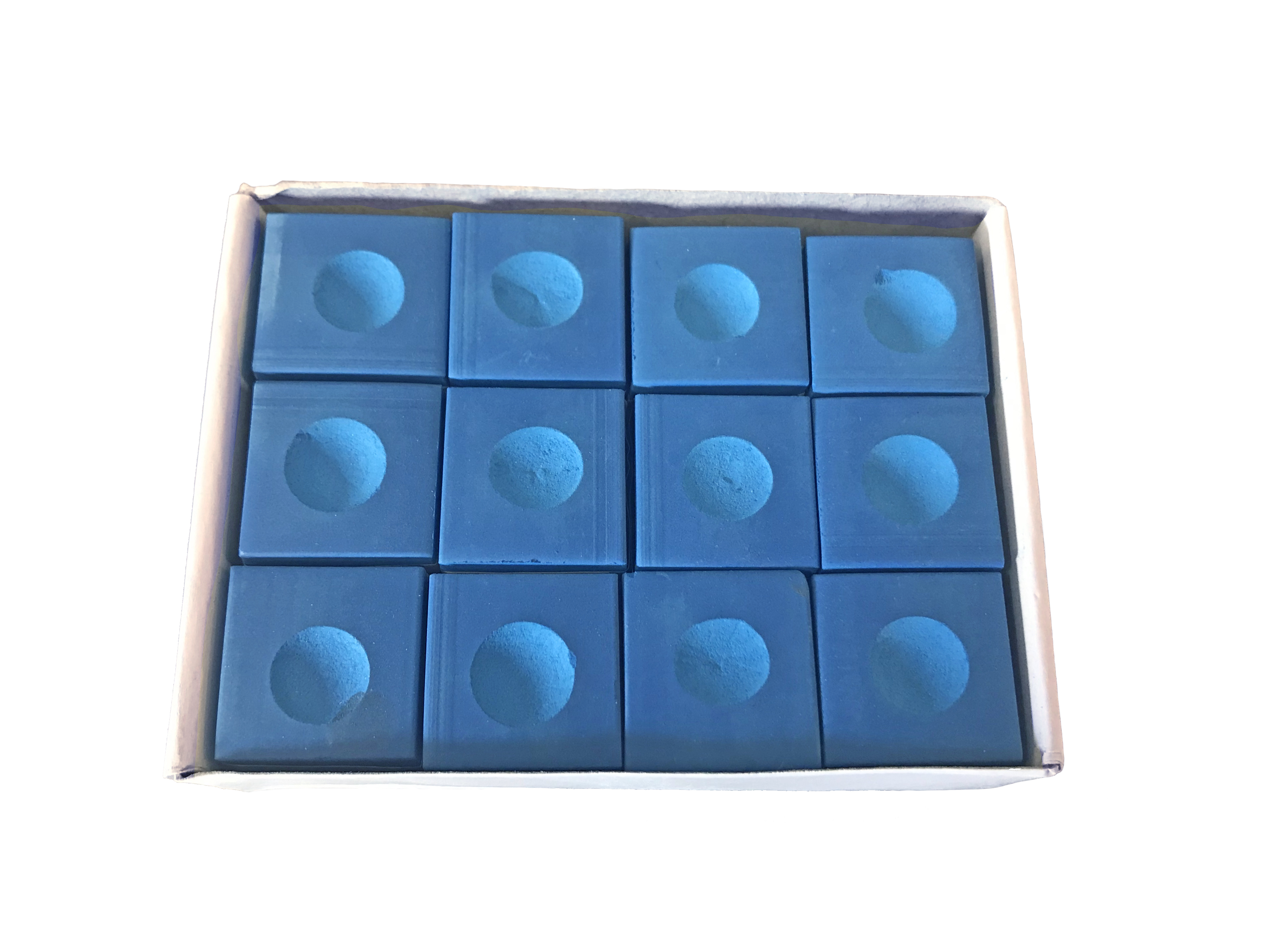 Box of 12 Cubes of Blue Pool Cue Chalks by CANNON SPORTS