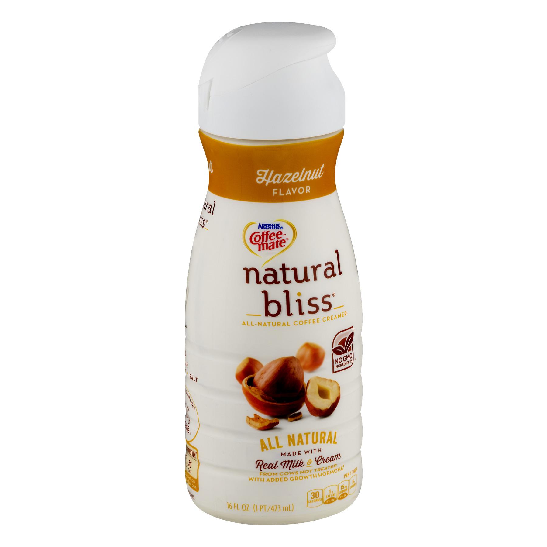 Coffee Mate Coffee Creamer Natural Bliss Hazelnut Liquid Creamer 16 Fl. Oz.    Walmart.com