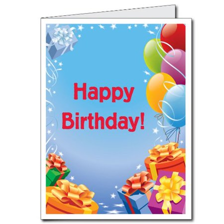 2x3 Giant Birthday Card wEnvelope Presents and Balloons – Giant Birthday Cards