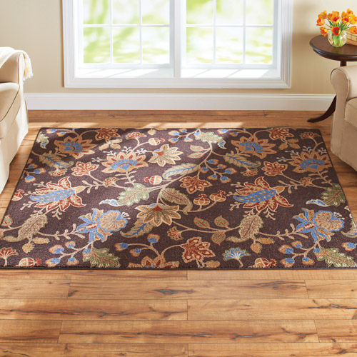 better homes and gardens rugs better homes and gardens jacobean faux hook floral rug 10820