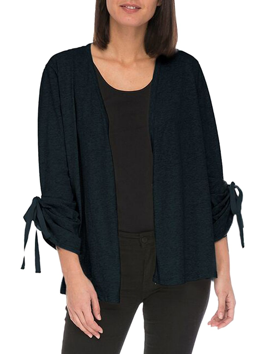 Nia Ruched Cotton Cardigan