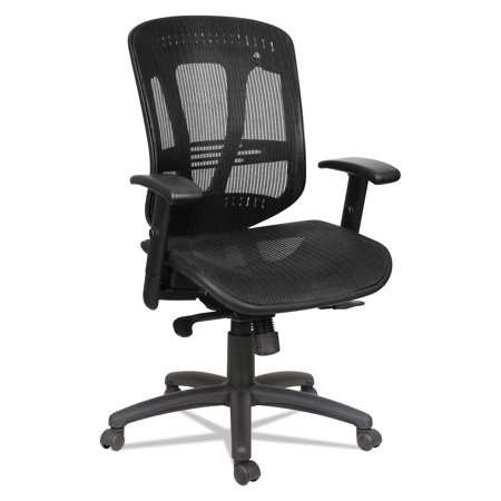 Alera Eon Series - Alera Eon Series Multifunction Wire Mech, Mid-Back Suspension Mesh Chair, Black